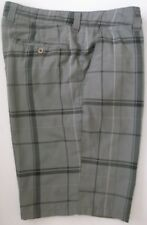 O'Neil Men's Gray Plaid Shorts Size 36