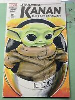 Star Wars Kanan 1 Original Sketch Cover Variant Baby Yoda The Child