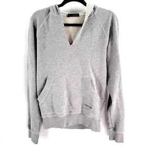 DSQUARED2 Italy Distressed V-Neck Hoodie Men's Streetwear  designer luxury brand