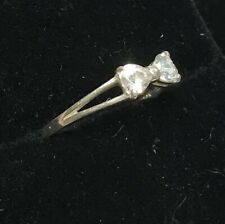 Fascinating and Elegant Sterling Silver Bow Ring With CZ's