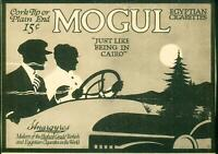 "Advertising Mogul Egyptian Cigarettes ""Just Like Being In Cairo"" 15c/Pack 1915"