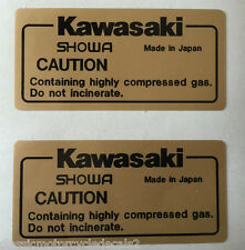 KAWASAKI Z1000R Z1100R EDDIE LAWSON REAR SHOCK ABSORBER CAUTION WARNING DECALS 2