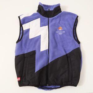 Vintage 2002 SALT LAKE Ski Winter Olympics MARKER Unisex Fleece Small Vest XS