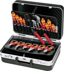 Knipex 00 21 20 Elektriker Werkzeugkoffer bestückt 20teilig B x H x T 480x17x370