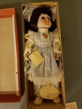 Brinn Collectible Porcelain Doll W/ Music Box Playing Theme From Love Story-NIB