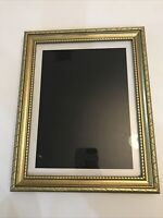 """Photo Frame Gold Gilt Ornate Victorian Holds 8x10"""" Picture Wall Hanging Matted"""