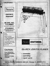 """1979 Craftsman 113.206931 & 113.206801 6 1/8"""" JOINTER-PLANER WITH LEGS"""
