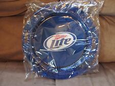 "Miller Lite Blue Plastic Handled Serving Tray~15"" Diameter~Brand New/Wrapped"