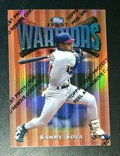 SAMMY SOSA 1997 Topps Finest Warriors REFRACTOR w/ Protective Film Chicago Cubs