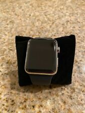 Apple Watch Series 2 42mm Stainless Steel Case Black Sport Band