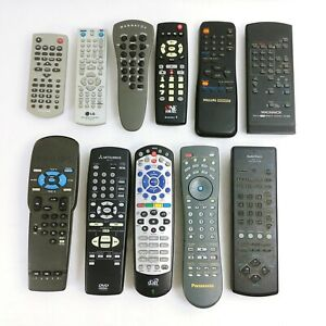 TV DVD Remote Controls Lot of 11 Assorted Brands - Untested