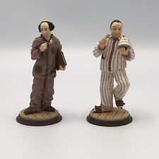 Three Stooges Curly & Larry Hard Plastic Figure