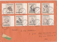 Austria 1969 Obertauern Cancels Multiple Subject Stamps Cover ref 22893