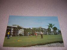 1960s GOLFING at PALM-AIRE CONDOS POMPANO BEACH FLORIDA VTG POSTCARD
