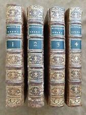 OEUVRES D'HIPPOCRATE en 4 volumes. Préface ALBERT DE HALLER. LAUSANNE. GRASSET &