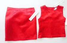 Vintage Maggie & Zoe Bright Red Asian Themed 2 piece Skirt/Top Size 7 Girls NWT