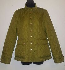 Burberry Brit Quilted Jacket Olive Green Sz M