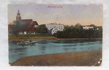AK  Mühldorf  Ruderboot auf dem Inn Litho gelaufen 1918