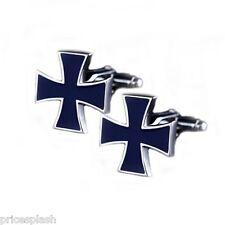 Cool Para Hombre Para Mujer Vestido De Militar Hierro Cruz Crucifijo Gemelos Novedad Diseño