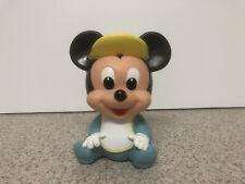 Vintage Vinyl Squeeze Squeaky Toy Mickey Mouse Disney Baby Bib