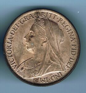 1901 Victoria One Penny coin