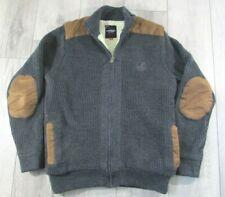Kangol Men's Grey Heavy Knit Lined  Zipper Jacket / top Size Medium