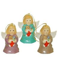 Goebel 2012 Angel Bell Set of 3 Nib Angels Holding Stockings 107300 New Box
