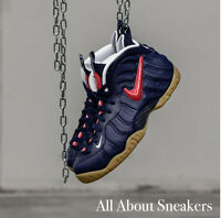 """Nike Air Foamposite Pro """"Blue Void / Uni"""" Men's Trainers Limited Stock All Sizes"""