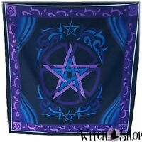 "36""x36"" PENTAGRAM ALTAR CLOTH Black Purple Scarf Wicca Pagan Witchcraft"
