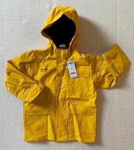 NWT Gymboree Sailing Club 4 4T Jersey Lined Yellow Hooded Raincoat Rain Jacket