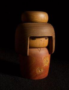 "16.5cm(6.5"") Japanese Sosaku Kokeshi Doll : signed Sanpei"