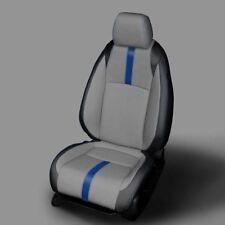 KATZKIN BLK GREY LEATHER INT SEAT CVRS FIT 2016-2019 HONDA CIVIC SEDAN EX / EX-T