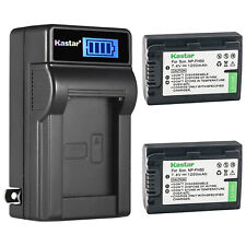 Kastar Battery + Charger For Sony NP-FH50 NP-FH40 HDR-TG1 TG3 TG5 TG7 SR50 SR90