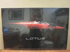 "Vintage 1986 Lotus poster ""raced in 1968"" Dick Barbour Racing  3730"