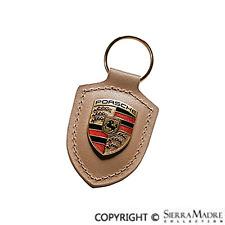 Porsche® Crest Key Fob, Brown, WAP.050.090.12