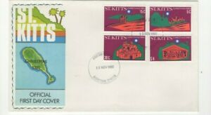 1980 ST. KITTS - CHRISTMAS FDC FROM COLLECTION J20