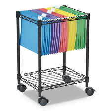 Alera Compact Rolling File Cart 15 14w X 12 38d X 21h Black Fw601416bl