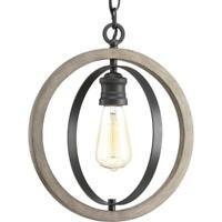 Progress Lighting Conestee Collection 1-Light Graphite Pendant