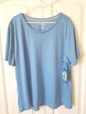 Reel Legends Men's Freeline Performance Sport Shirt Nwt 2X Blue Short Sleeve