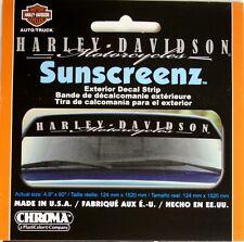 harley davidson motorcycle exterior decal sticker strip sun screen window brow