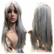 Stacey-Argento Grigio Chiaro pieno capelli lisci parrucca Regolabile Donna Ragazza HEAD 132