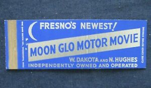 Vintage Fresno California Moon Glo Motor Movie Drive In Theater Matchbook