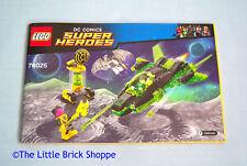 LEGO DC Super Eroi Green Lantern vs. SINESTRO istruzioni LIBRO solo-NO LEGO