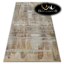 SOFT AMAZING ACRYLIC RUGS VALENCIA Very Thick beige yellow HIGH QUALITY