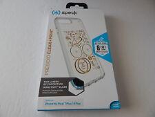 "Speck Presidio Clear + Print Case for iPhone 8/7/6S/6 Plus 5.5""CityBike Metallic"