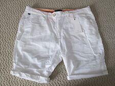 NWT Auth Scotch & Soda Classic Solid White Chino Shorts Sz 28 $85