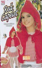 ABITO, Costume, CARNEVALE, mantellino rosso (11/13 ANNI -158cm) tipo cappuccetto