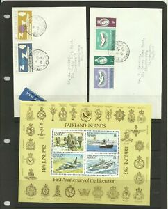 FALKLAND ISLANDS 2 First Day Covers & 1 Mini Sheet, Unmounted Mint.