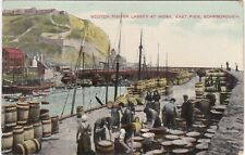 Scotch Fisher Lasses At Work, East Pier, SCARBOROUGH, Yorkshire