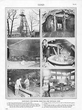 Vintage Print/Plate 1929 Encyclopedia Britannica, LEAD PRODUCTION MACHINERY